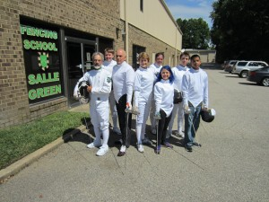 Salle Green fencers for the 2015 Flashmob
