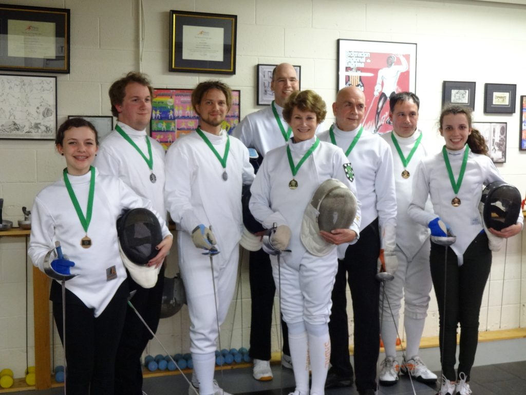 Medal winners at the Salle 3 Weapon Championships