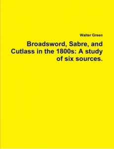 Book - Bradsword, Sabre, and Cutlass