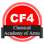 Open badge for Classical Academy of Arms Rank 4 in Foil