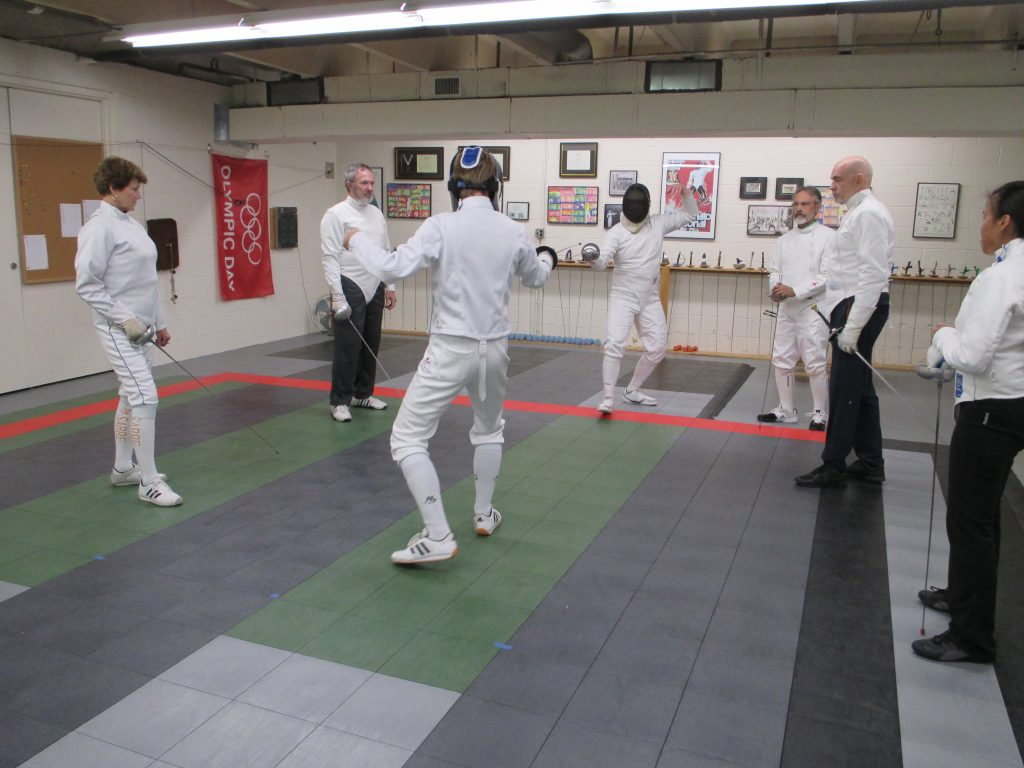 The principals fencing.