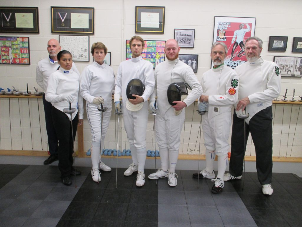 Graduates of The Art of the Duel at Salle Green