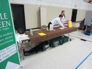 Information table at summer programs event