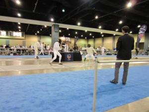 Epee fencing at North American Cup