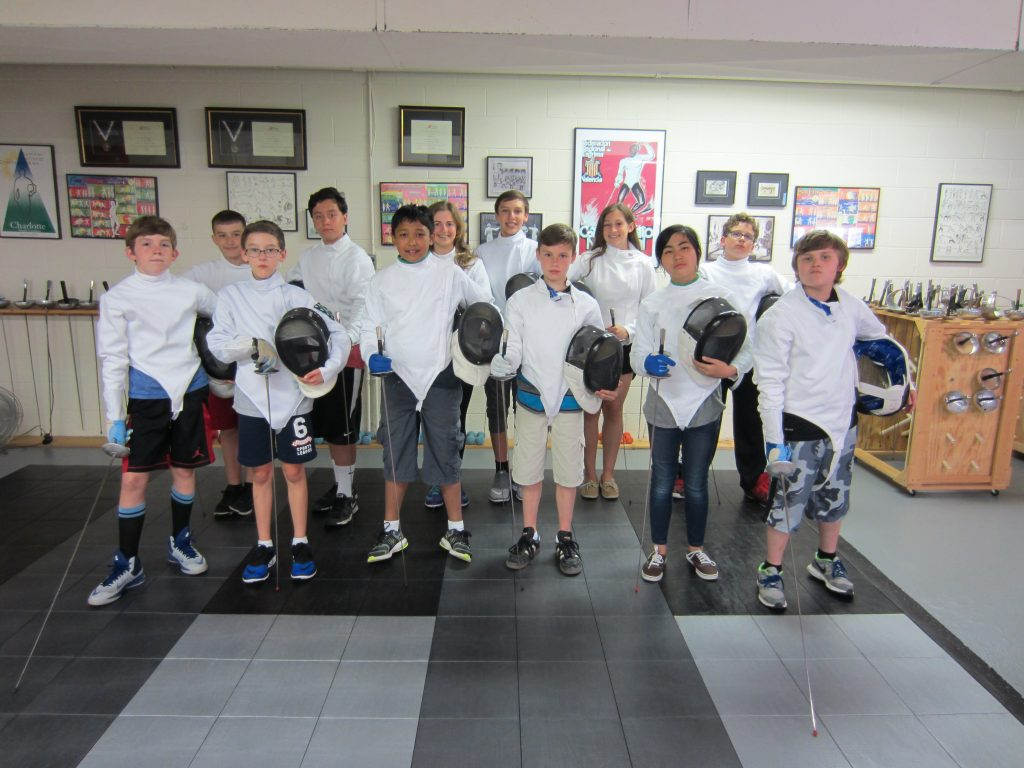 Quick Start class for youth 12 and 14 fencers
