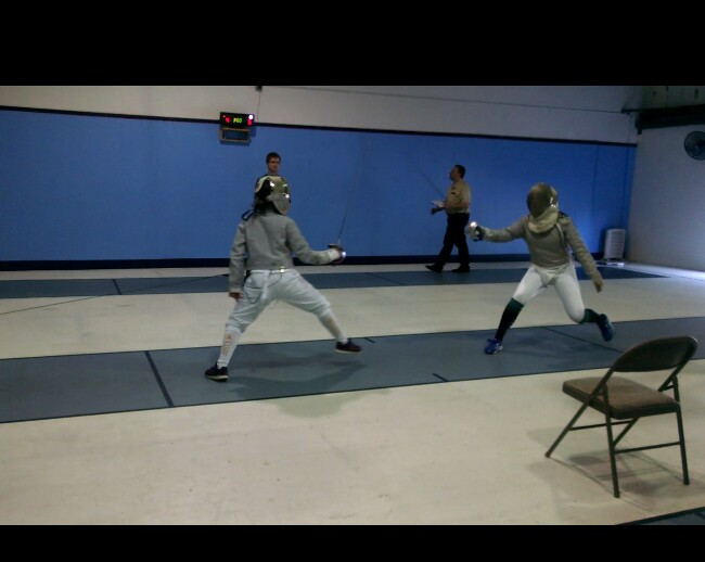 Sabre fencing at the 2016 Coastal Clash