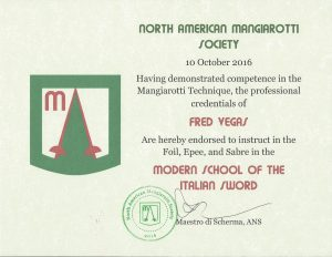 Certificate endorsing to teach the Mangiarotti Technique